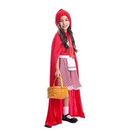 Red Riding hood clothes online shopping - Halloween cosplay children s clothing new masquerade costumes girls little red riding hood princess dress