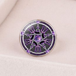 Leather Banded Ring Australia - Style3 new fashion accessories European and American accessories Celtic triangle mysterious symbol time gemstone opening adjustable ring