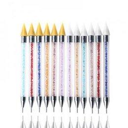 Wax Pencils Australia - Double-Ended Nail Point Drill Pen diamond penholde Rhinestone Picker Wax Dotting Pencil DTY Manicure Nail Art Dotting Tool TTA149