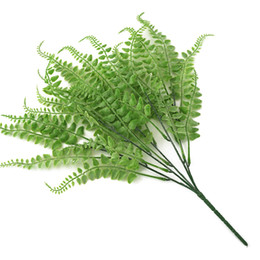 $enCountryForm.capitalKeyWord Australia - 5 Forks Simulation Green Fern Grass Persian Leaf Artificial Plastic Fake Leaves Wall Hanging Plant Bonsai Home Garden Decoration