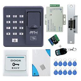 $enCountryForm.capitalKeyWord Australia - Full kit biometric fingerprint access control X6+electric strike lock+power supply+exit button+door bell+remote control+key card