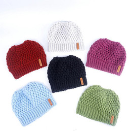 7e63a4e1ed3 Ponytail Beanie Winter Hats For Women Crochet Knit Cap Skullies Beanies  Warm Caps Female Knitted Stylish Hat Ladies Fashion D142
