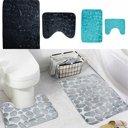 Slip StoneS online shopping - Goose Egg Stone Pattern Carpet Multi Colors Bathroom Anti Slip Floor Mat Black Grey Purple Bath Mats Creative rb L1