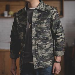 waxed jackets 2019 - MADEN Men's Camo Waxed Canvas Cotton Jacket Work Trucker Jacket cheap waxed jackets