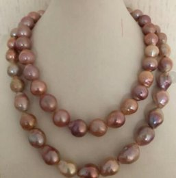 "$enCountryForm.capitalKeyWord Australia - 13-15mm Natural Freshwater Rose Gold Pearl Necklace 38 ""14K Gold"