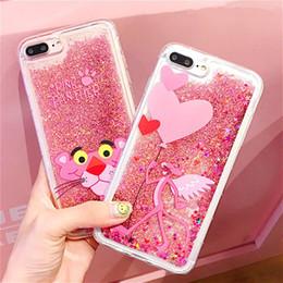 Capa Iphone Glitter Australia - Phone Pink Pather Quicksand Liquid Case for Iphone 8 8plus 7 7plus Glitter Bling Bling for Iphone X XS 6 6s Plus Luxury Designer Case Capa