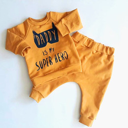 438ec6844 0-3T Newborn Kids Baby Boys Girl Clothing Daddy Batman Superhero Outfit set  Flower Top and Pants infant clothes set roupa menina