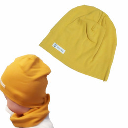 cotton jumper wholesale NZ - Children's hats autumn winter Baby's full cotton pure color tire cap Knit cotton jumper strip three size boys girls beanies