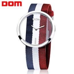$enCountryForm.capitalKeyWord Australia - Blue White Red Nylon Band Wristwatches Woman Mens Lovers Ladies Girls Fashion Casual Sport Dress Quartz Watch Wrist Watches High Quality