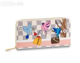 $enCountryForm.capitalKeyWord UK - N60139 Canvas Flying Birds Zippy Wallet Purse Bag Zip Clutch Handbag Purse Bag Wallet Purse Belt Bags Mini Bags Clutches Exotics