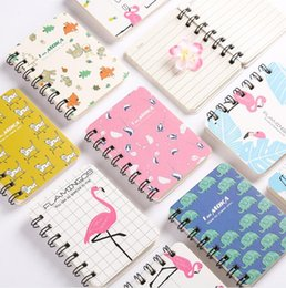 animal mini notepads NZ - DIY A7 Side Coil Mini Notes Multi 80 Sheets Cartoon Animals Message Notes & Notepads Office & School Supplies HA682