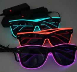 $enCountryForm.capitalKeyWord Australia - Simple el glasses El Wire Fashion Neon LED Light Up Shutter Shaped Glow Sun Glasses Rave Costume Party DJ Bright SunGlasses