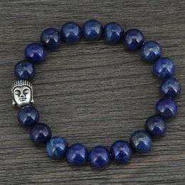 $enCountryForm.capitalKeyWord NZ - Natural 8MM Lapis Luzuli Antique Buddha Beads Bracelet Fashion Tibetan Bracelet Bead Jewelry Dropship Custom jewelry