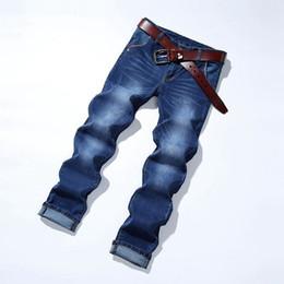 $enCountryForm.capitalKeyWord Australia - Jeans Men Spring summer autumn Fashion Slim Pencil Pantalones Homme Mid Waist Solid Colors Skinny Trousers Male Blue Size 27-36