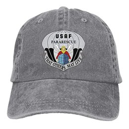 $enCountryForm.capitalKeyWord UK - 2019 New Designer Baseball Caps United States Air Force Pararescue Emblem Trend Printing Cowboy Hat Fashion Baseball Cap