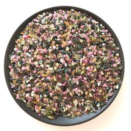50g Natural Crystal Healing Reiki tormalina schiacciato pietra perline Pietra preziosa Chip Tumbled Stone Fountain Home Garden Mineral Decor