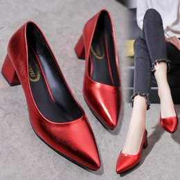 c46a66c3f9d9 Dress Spring 2019 New Type Of Single Shoe For Women With Shallow Obliquity  Pointed Head Thick Heel Work Shoes Report