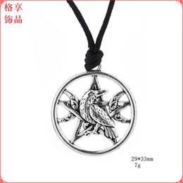 $enCountryForm.capitalKeyWord NZ - Crow Necklace Odin's Ravens Bird Pendant Necklace Totem Women Men Mythology Amulet Talisman Jewelry Norse Viking Necklaces