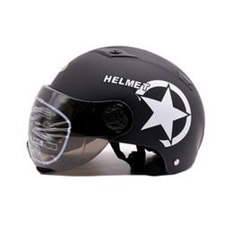 $enCountryForm.capitalKeyWord Australia - New Motorcycle summer Half Face Protective Helmet Visort MenWomen Adult Bicycle Helmets Side Stars Sunscreen Ventilation