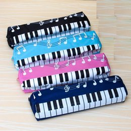Music Stationery Gifts Australia - New lovely Musical Piano Keyboard Pencil Case Stationery Office School Supplies Music Pen bag Box Storage Bag School supplies