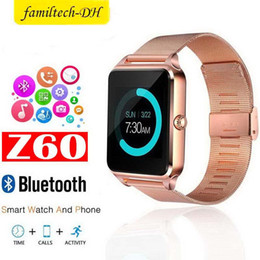 $enCountryForm.capitalKeyWord Australia - Bluetooth Smart Watch Phone Z60 Stainless Steel Sport Watch Support SIM TF Card Camera Fitness Tracker GT08 GT09 DZ09 A1 V8 for IOS Android