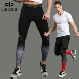 $enCountryForm.capitalKeyWord Australia - Lie Xing 2019 Men Pro Sporting Gymming Quick-dry Workout Compress Legging Bodybuilding Runs Slim Fitness Shaper Clothing Pants