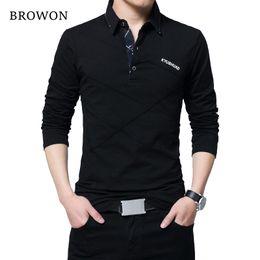$enCountryForm.capitalKeyWord Australia - Browon Hot Sale T Shirt Men Long T-shirt Turn-down Stripe Designer T-shirt Slim Fit Loose Casual Cotton T Shirt Male Plus Size J190614