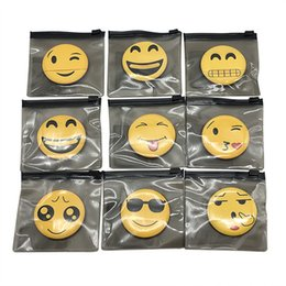Hand Hooked Bag Australia - Hangable Smiling Face Crying Face Cartoon Expression Puff Air Cushion Sponge Puff Hand Hook Powder Puff with bag DHL free