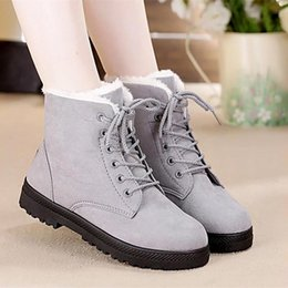 5c49dd64bae Snow Boots 2018 Classic Heels Suede Women Winter Boots Warm Fur Plush Insole  Ankle Women Shoes Hot lace-up Shoes Woman