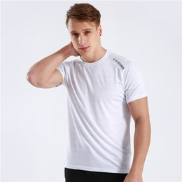 Tight Fitted Tees NZ - Short Sleeve 2019 New Summer Brand Breathable Gyms Tight T-shirt Mens Athleti-fit Tee Gyms T Shirt Men Fitness Crossfit