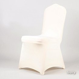 wholesale wedding chair cover spandex NZ - 100PCS Factory Lycra Wedding Decoration Chair Cover Restaurant Spandex Chair Cloth Wedding Restaurant Chair Cover 20170629#