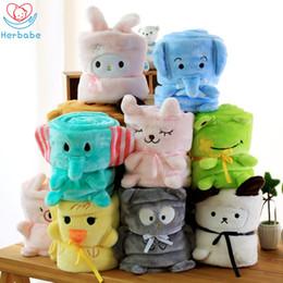 $enCountryForm.capitalKeyWord Australia - Herbabe Baby Swaddle Blanket Soft Cartoon Newborn Baby Girl Blankets Infant Sleeping Wrap Children Adults Nap Mat Boy Bath Towel