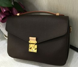$enCountryForm.capitalKeyWord NZ - European American Top quality Flap women mEtiS oxidizing genuine Leather handbag Tote messenger bag purse ARTSY style fashion SPEedY design