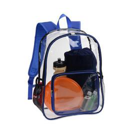 Buena calidad Moda mujer azul claro mochila impermeable Pvc mochila transparente diseño bolsa de playa para adolescentes bolsa de viaje escolar en venta