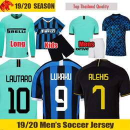 ronaldo jerseys 2019 - 19 20 LUKAKU Soccer Jerseys INter ALEXIS GODIN 2019 2020 LAUTARO Football Shirt RONALDO DE VRIJ Kids Kit Mens Uniforms W