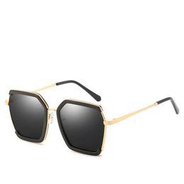 883f028d6b Vintage polygon sunglasses polarized sunglasses for women brand designer  trendy metal frame shades Ladies eyewear