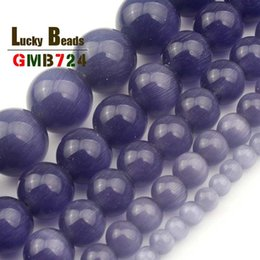 $enCountryForm.capitalKeyWord Australia - opal oval Natural Purple Cats Eye Beads Stone Round Mexican Opal Loose Beads For DIY Making Bracelet Necklace Jewelry 15'' 4 6 8 10 12mm