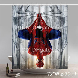 spiderman beds Australia - Amazing Spiderman Waterproof Bed Bath And Beyond Coupon Polyester Fabric Shower Curtains