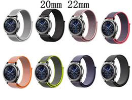 $enCountryForm.capitalKeyWord Australia - 22mm 20mm Nylon Strap for Samsung Gear S3 S2 Sport Frontier Classic Watch Band Galaxy Watch Active Galaxy 42mm 46mm Watch Amazfit Bip Strap
