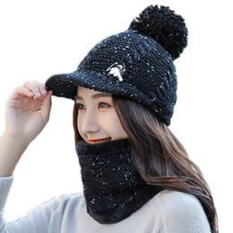 Crochet Ski Mask UK - JAYCOSIN High Quality Fashion Women Crochet Knitted Woolly Hat With Mask Beanie Warm Fleece Ski Cap Winter Hats for Women New