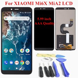 """$enCountryForm.capitalKeyWord Australia - 100% New 5.99"""" For XiaoMi Mi 6X Mi A2 LCD Display Touch Screen With Frame Digitizer Assembly For XiaoMi Mi6X LCD Replacement"""