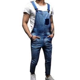 ddf9cfbba774 MoneRffi Brand Men Vintage Jeans Jumpsuits Distressed Denim Bib Overalls  Male Suspender Pants 2019 New Men Casual Jeans Jumpsuit