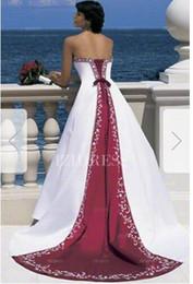 Silk Satin Sheath Wedding Dresses Australia - Sheath Column Strapless Chapel Train Satin Wedding Dress063