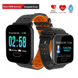 touch screen sport bracelet NZ - New A6 Wristband Smart Watch Touch Screen IP67 Water Resistant Smartwatch with Heart Rate Monitor Sport Running Smart Bracelet