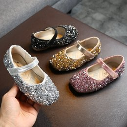 $enCountryForm.capitalKeyWord Australia - Autumn Girls Princess Shoes Infant Kids Baby Children Sequins Sandals Shoes sequins rhinestone princess single
