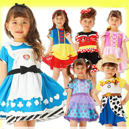 children summer frocks NZ - Multi style Little Girls Princess Summer Cartoon Children Kids Designer Dresses Girls Casual Clothes Kid Trip Frocks Party Costume