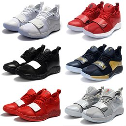 a415ba9ba9062 New Arrival PG 2.5 University Red Opti Yellow Men Kids Basketball Shoes  Racer blue White Black Wolf Grey Mens Paul George sports sneakers
