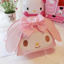 cute waterproof bag Australia - Cute Hello Kitty My Melody Pu Makeup Bag Cosmetic Bag Waterproof Portable Travel Storage Pouch Girl Makeup box Girl gift