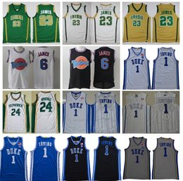 marias venda por atacado-St Vincent Mary High School Irish James Jersey New Duke Blue Devils Kyrie St Patrick Irving Basketball Jersey Tune Squad Lebron