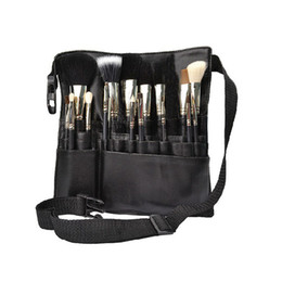 China Professional Cosmetic Brush Apron Bag Fashiont Belt Strap Holder Portable Make Up Bag Women Cosmetic Brush Bags RRA896 supplier open cosmetic bag suppliers